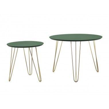Set de table vert pieds dorés mat SPARKS