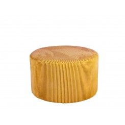 Pouf velours jaune curry Small GLAM