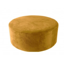 Pouf velours jaune curry XL GLAM