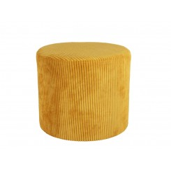 Pouf velours jaune curry GLAM