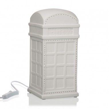 Lampe CABINE TÉLÉPHONIQUE porcelaine blanche