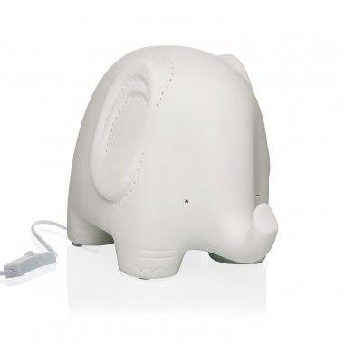 Lampe ELEPHANT porcelaine blanche