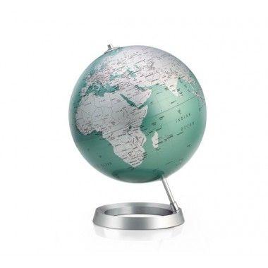 Globe terrestre design Mint sur socle aluminium