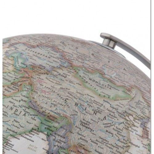 Globe terrestre lumineux Executive socle en frêne