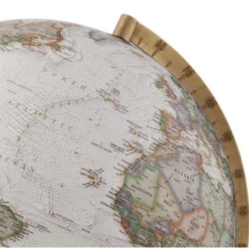 Globe terrestre lumineux Atmosphere Gold Executive socle en noyer