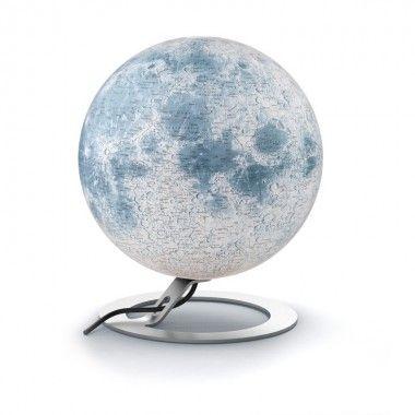 Lune lumineuse sur socle