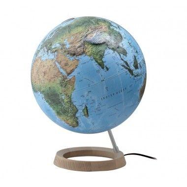 Globe terrestre lumineux FCR en relief