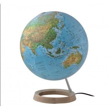 Globe terrestre lumineux bleu FC2 sur socle atmosphere