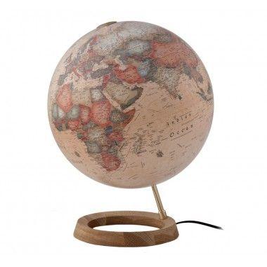 Globe terrestre lumineux FC1 sur socle en chêne