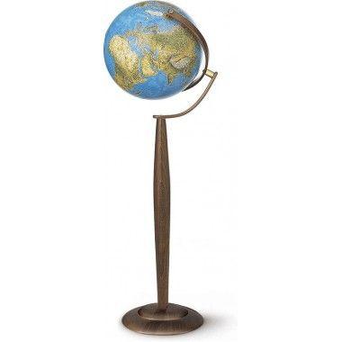 Lampadaire Globe terrestre lumineux Sylvia Blue