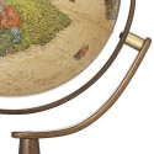 Lampadaire Globe terrestre lumineux Sylvia Antique