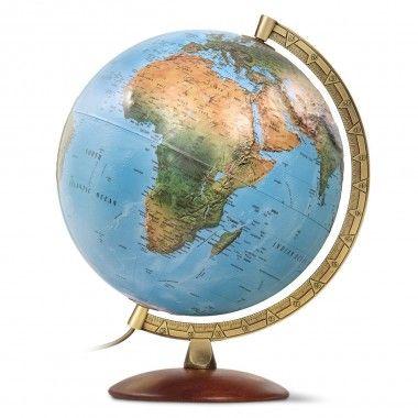 Globe terrestre lumineux en relief Primus Relief