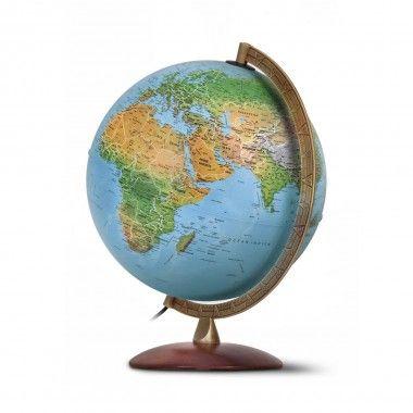 Globe terrestre capitales et frontières lumineuses Astra
