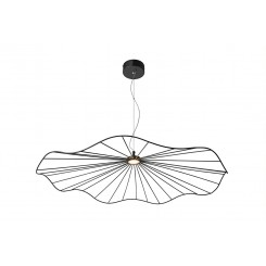 Suspension noir maille ronde design 80 cm MESH