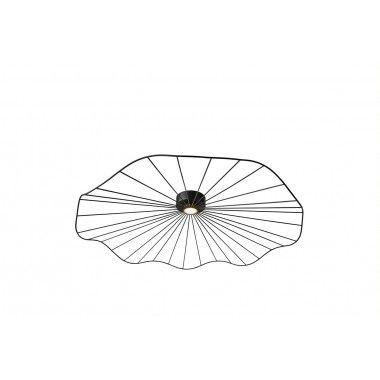 Suspension noir maille ronde design 75 cm MESH