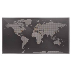 Applique murale LED carte du monde MAP