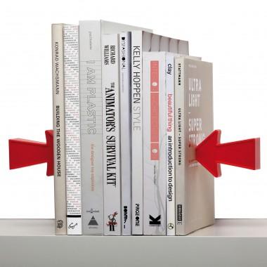 Serre-livres Illusion flèches rouges