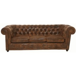 CANAPE CHESTERFIELD VINTAGE TROIS PLACES KARE DESIGN