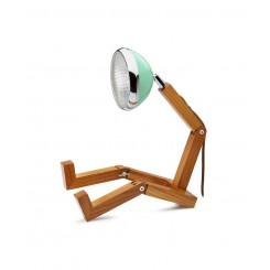 Lampe Bonhomme Tiffany Green en bois MR.WATTSON