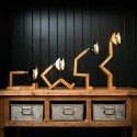 Lampe Bonhomme fashion black en bois MR.WATTSON