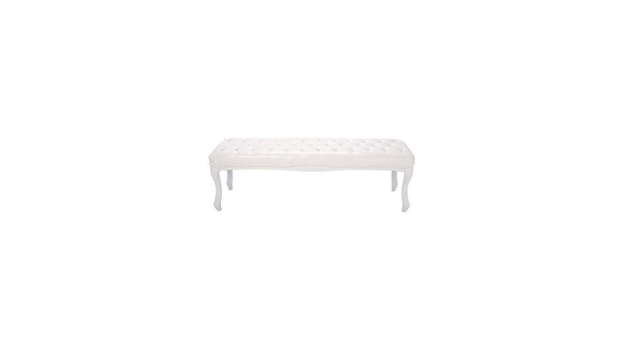 banc cuir blanc design perfect phone bench banc de jardin design blanc lali. Black Bedroom Furniture Sets. Home Design Ideas