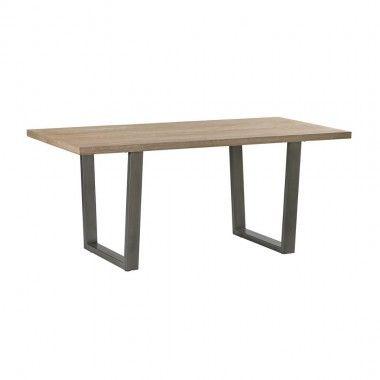 Table à manger bois clair et métal SHARE 180 cm