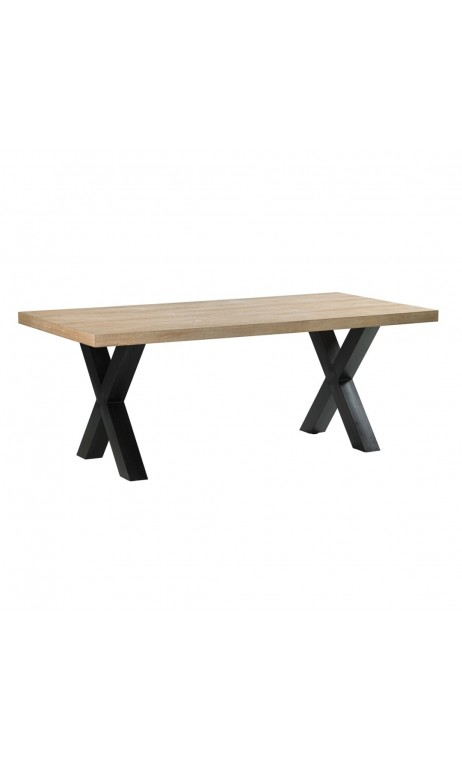 Table à manger plateau bois 180 cm ESSENTIAL