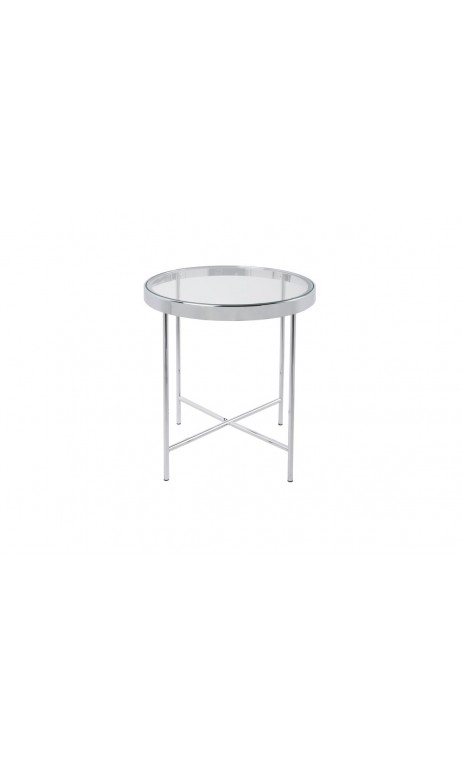 Table d'appoint noir mat plateau en verre SMOOTH