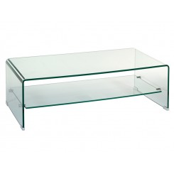 Table basse en verre rectangulaire Transparente 120 cm