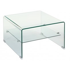 Table basse en verre carré Transparente CRISTAL