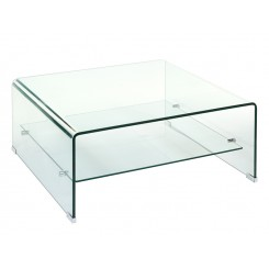 Table basse en verre carré Transparente CRISTAL 80 cm