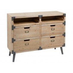 Commode industrielle bois FABRIC