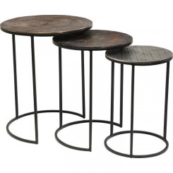 Set de 3 tables d'appoints ELECTRA Ø48cm