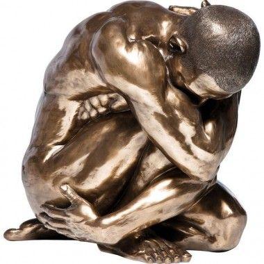 Statue Homme Hug Nude Bronze