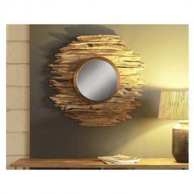 Miroir aspect bois flotté KYOKO 120 cm