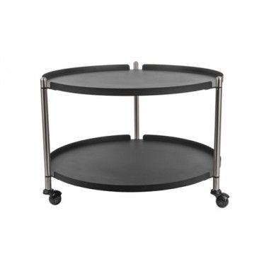 Table d'appoint noire mate et métal THRILL