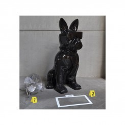 Statue chien cravate XXL BLACK 1m90