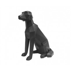 Statue chien blanc assis ORIGAMI