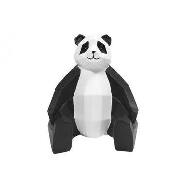 Statue panda blanc et noir ORIGAMI