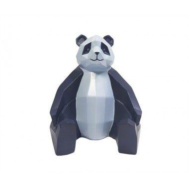 Statue panda bleu et bleu clair ORIGAMI