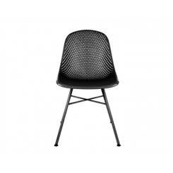 Chaise noire Diamond MESH