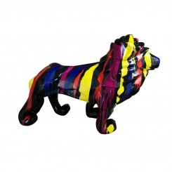 Statue lion multicolore 105 cm EMOTION