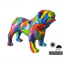 Chien bouledogue peintures multicolores RAINBOW