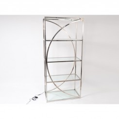 Etagere LED 5 tablettes verre et chrome FLASH 180cm