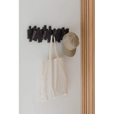 Porte manteau mural sticks HOOK marron