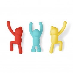 Set de 3 crochets muraux multicolores BUDDY