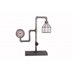 Lampe industriel LED horloge BEAUX-ARTS
