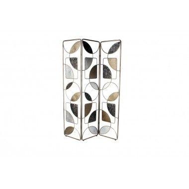 Paravent formes géométriques pop style art de fer