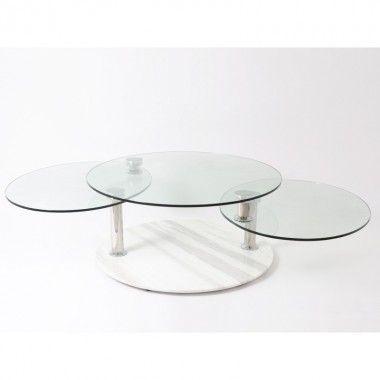 Table salon 3 plateaux MISSOURI
