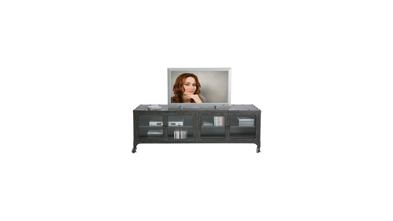 achetez votre meuble tv industriel factory pas cher sur loft attitude. Black Bedroom Furniture Sets. Home Design Ideas